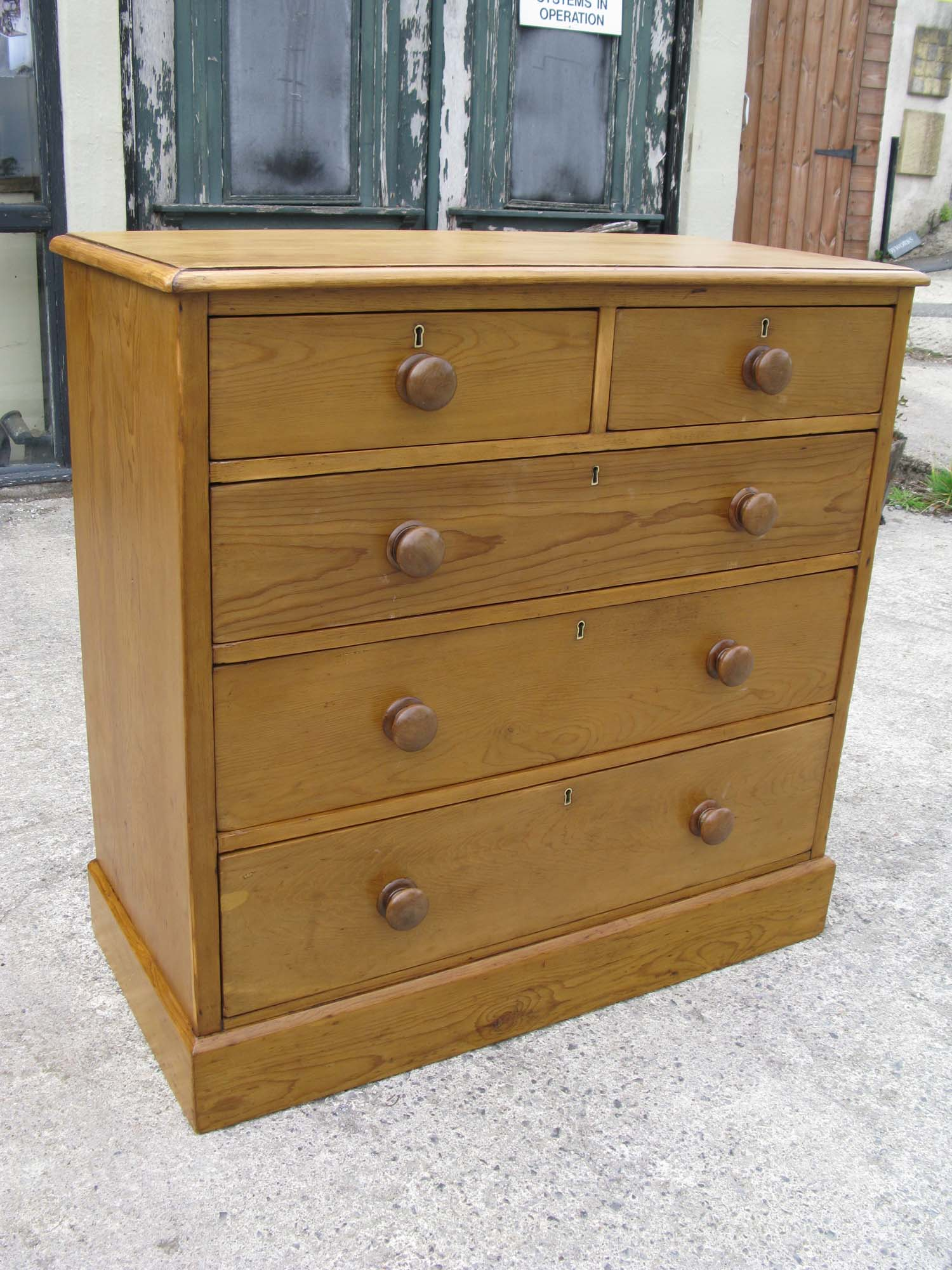 This Is A Lovely Old Victorian Pine Chest Of Drawers. Underneath That  Attractive (!) Brown Paint It Is A Really Sturdy, Well Made Piece And Its  Going To ...