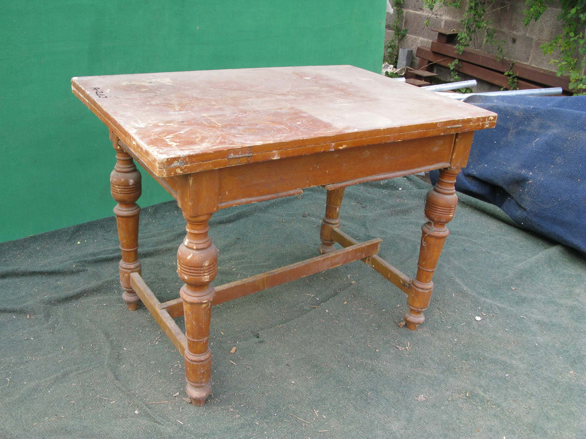 This Is A Good Sturdy Table, Good Strong Legs   We Have Stretched The Base  On This Old Table, If You Click On The Photo You Will See How ...